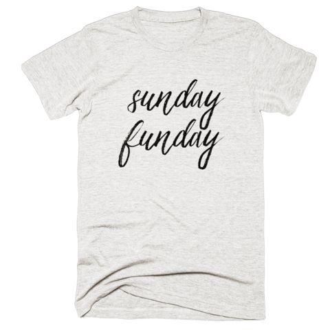 sunday funday | women's oatmeal tri-blend t-shirt - littlecutees.com