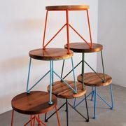 "Garza Furniture - Marfa, Texas - 18"" Round StoolModern Stools, Side Tables, For Kids, Garza Marfa, Metals Stools, Round Stools, Garza Furniture, Folding Chairs, Design Hotel"