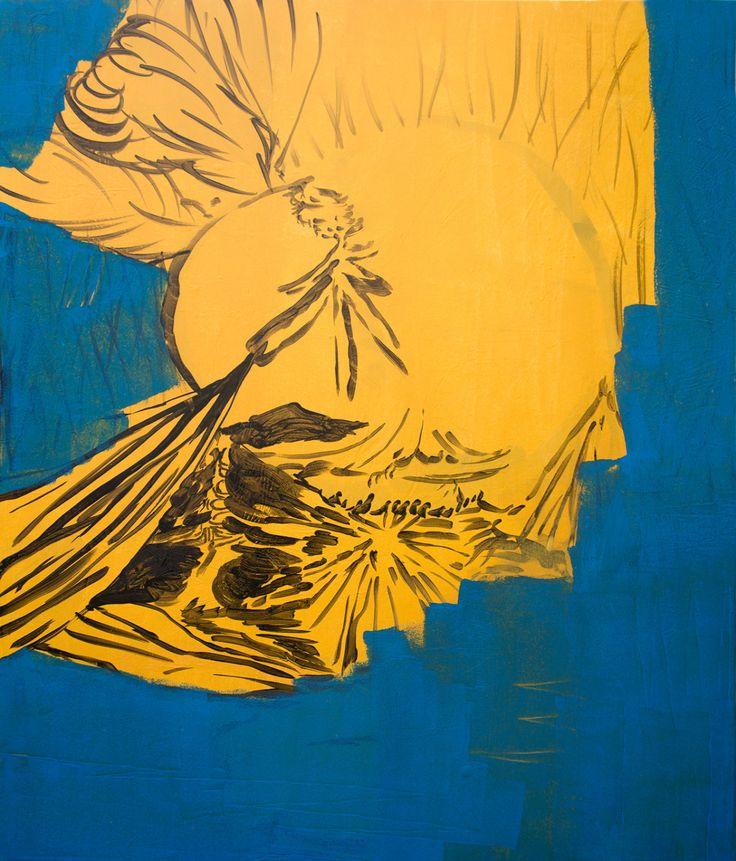 EDUARDO INFANTE  Aquiles. 2016. Acrylic & gouache on canvas. 130 x 110 cm