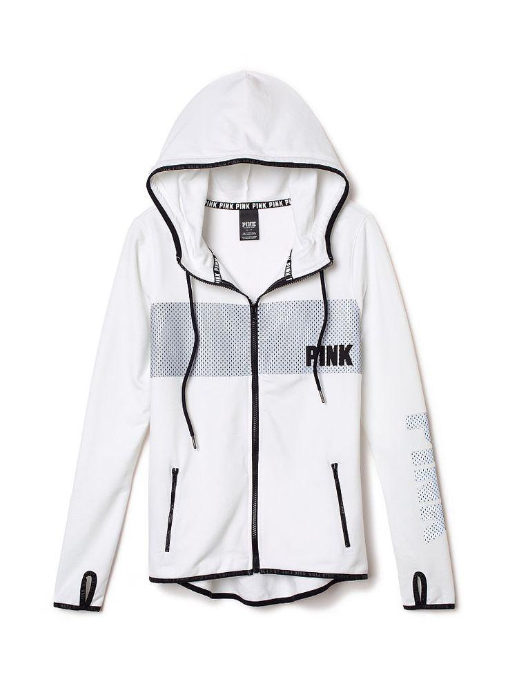 Full-Zip Fleece Hoodie. Orig. $64.95 Clearance $44.99 - PINK - Victoria's Secret