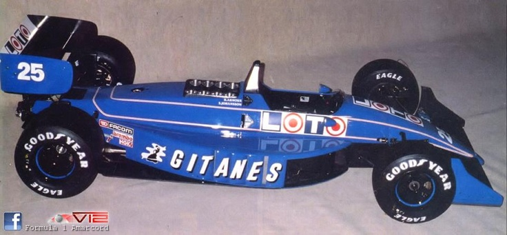 f1 1988 Ligier JS31-launch