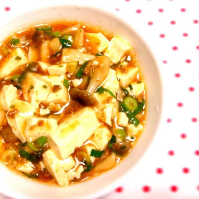 私が木綿豆腐は苦手なので、絹ごし豆腐でふわふわ麻婆豆腐。 歯ごたえUPの為にしめじを投入(^^) - 4件のもぐもぐ - 麻婆豆腐 by koume244