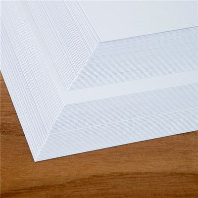 BOGOF 40 Sheets of Pure White 250 GSM Stamping Card (337894)   Ideal World