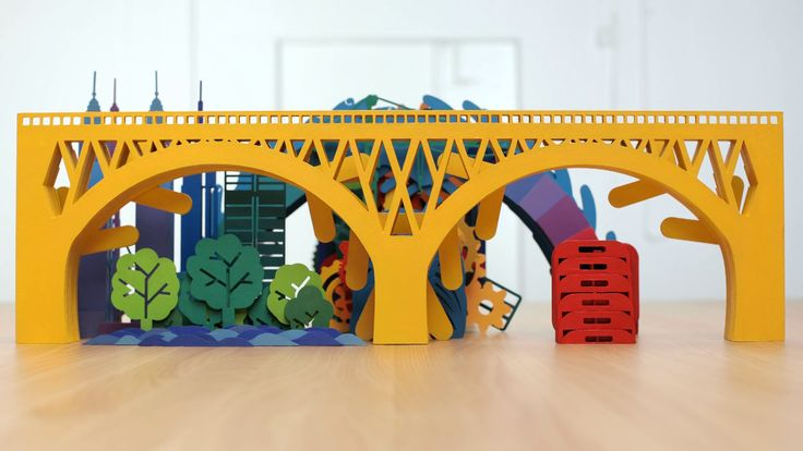 This commercial for a University sees stop-motion and paper art collide for creativity.