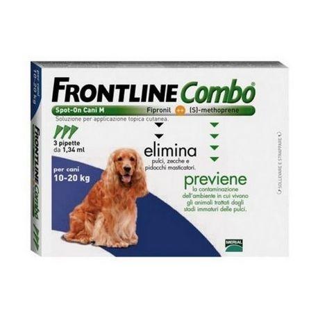 FRONTLINE COMBO 10 - 20 KG, 3 PIPETTE  25,90 €. #antizecchecani #cani