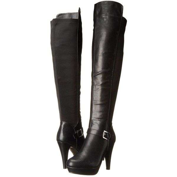 Madden Girl Craay Women's Boots, Black (£21) ❤ liked on Polyvore featuring shoes, boots, heels, black, over-the-knee boots, black heeled boots, high heel boots, over the knee high heel boots, black knee high heel boots and over-the-knee high-heel boots