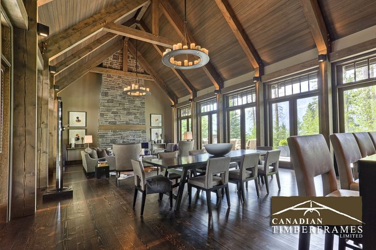 Luxurious timber frame dining room