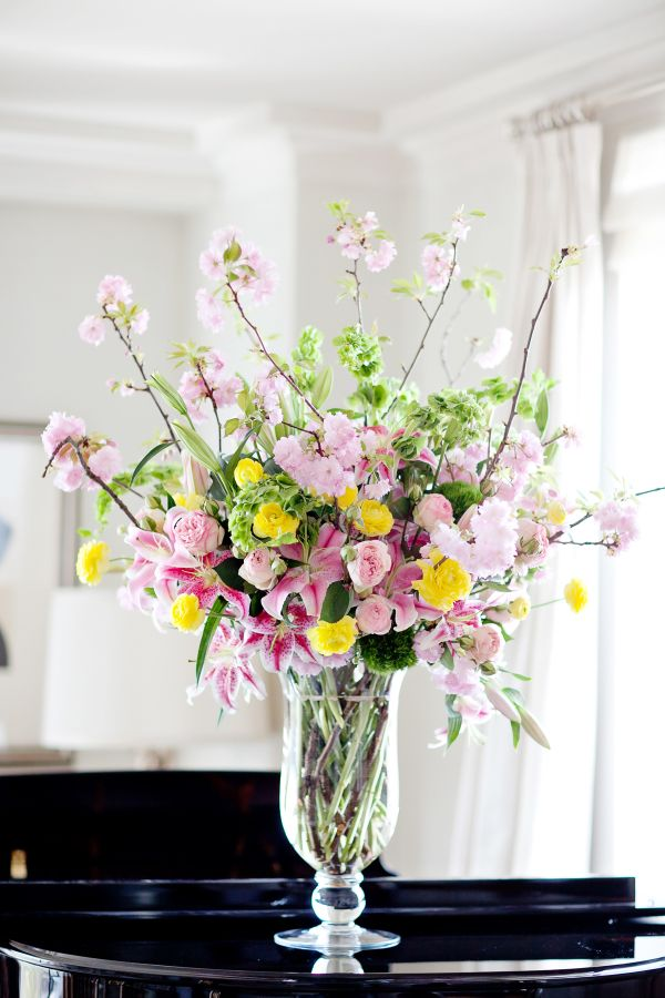 Beautiful spring flower arrangement. @Ruche #PinADayInMay