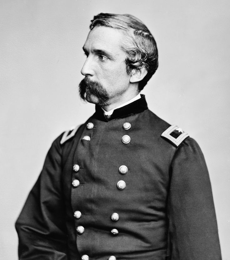 """General Joshua Chamberlain was responsible for one of the most poignant scenes of the Civil War at the April 1865 surrender of Lee's Army of Northern Virginia at Appomattox Court House. Gen. Grant placed Chamberlain in charge of receiving the surrender of Confederate weapons and battle flags. As the conquered Confederate soldiers marched down the road to surrender their arms and colors, Chamberlain ordered his men to come to attention and """"carry arms"""" as a show of respect."""