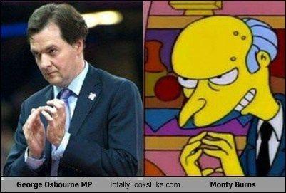 George Osbourne MP Totally Looks Like Monty Burns  Simpsons Comedy Animation Series Animated Tv Series Meme