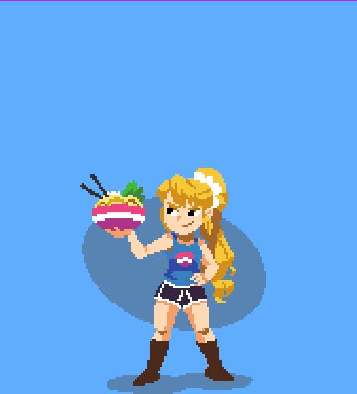 "barrowdalevillageplaza: "" OH MY GOODNESS… an online art pal made this for me!! It's Miso just being cool, as always! I am absolutely blown away by this *O* He gave me permission to upload here, please check out his pixel animation work it is..."