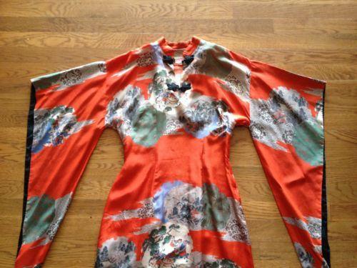 GLADYS-WILLIAMS-HONOLULU-CHINESE-JAPANESE-SILK-HAWAIIAN-VINTAGE-ANTIQUE-DRESS