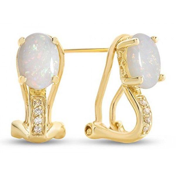 89baf24c644e1 LALI Classics 14k Yellow Gold Opal Oval Earrings | BIJOUX -JEWELRY ...