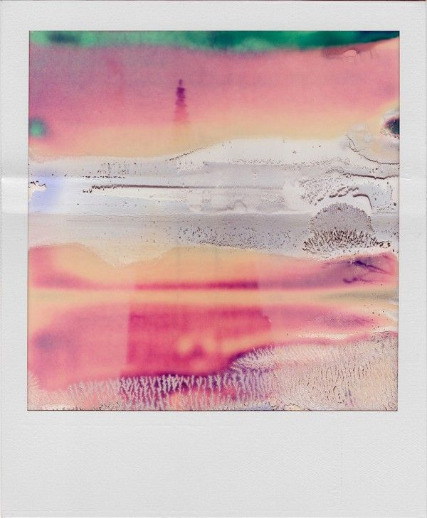 """With his Polaroid SX-70 (a used camera he picked up at a yard sale for 20 Dollars), William Miller churns out not photos, but amazingly abstract works of art. The camera, as it turns out, was broken. """"It sometimes spills out two pictures at a time and the film often gets stuck in the gears, exposing and mangling them in unpredictable ways,"""" says William."""