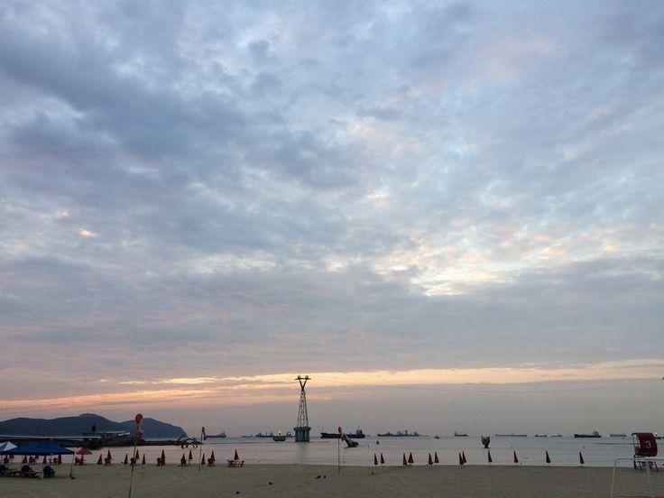 2017년 8월 30일 일출 보기 실패. ㅠ.ㅠ #송도해수욕장 #부산