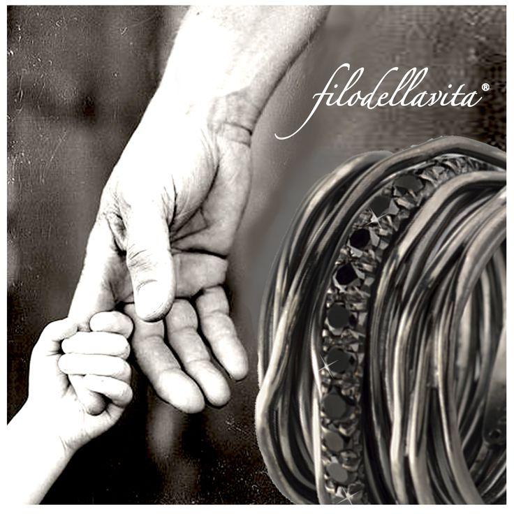 """Dillo con una parola, un gesto, un abbraccio perché Papà è una delle parole più belle che ci siano.   Buona Festa del Papà, a quelli di oggi, di ieri e di domani.  Tell him with a word, with a gesture, with a hug, """"Dad"""" is the best thing you can say.  www.filodellavita.com"""