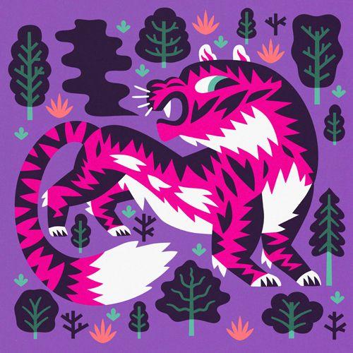 Big Cats - Till Hafenbrak Illustration