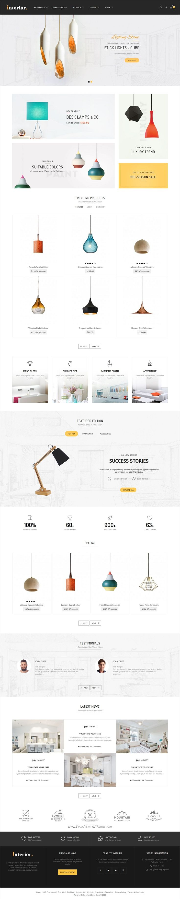 Interior store is beautifully design #Opencart theme for creative #lighting #store eCommerce website with 8 multipurpose homepage layouts download now➯ https://themeforest.net/item/interior-opencart-multi-purpose-responsive-theme/17089911?ref=Datasata