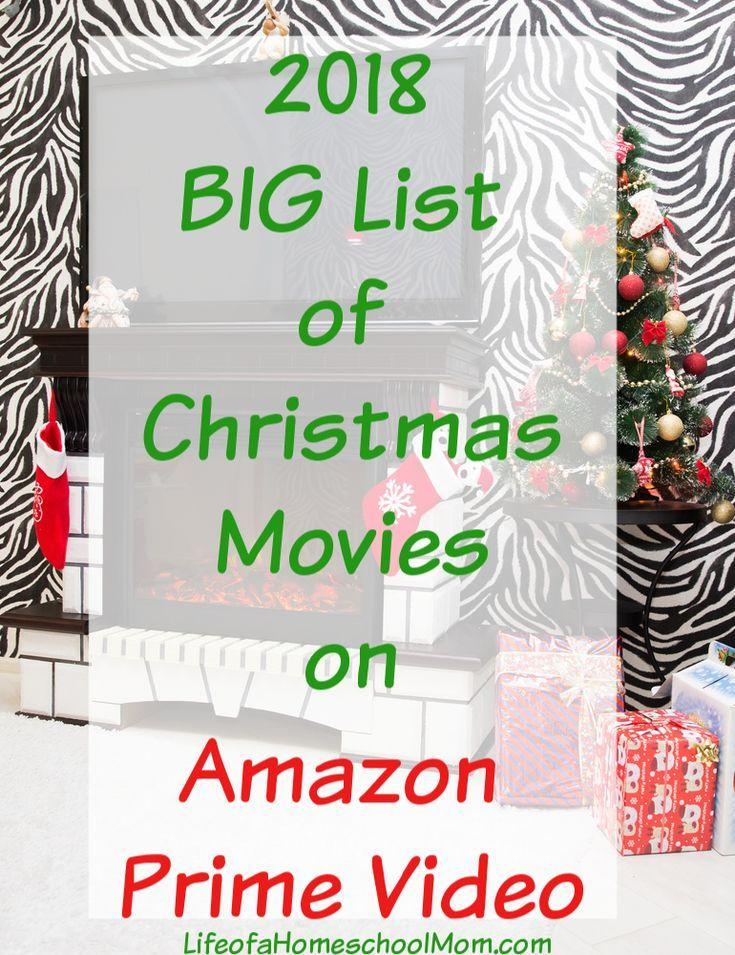 Big List Of Christmas Movies On Amazon Prime Video Mom For All Seasons Christmas Movies List Kids Christmas Movies Christmas Movies