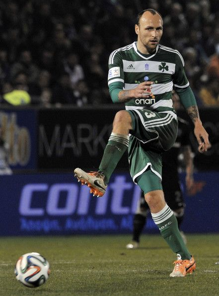 Gordon Schildenfeld of Panathinaikos in action during the Greek Superleague between Panathinaikos and PAOK at the Apostolos Nikolaidis Stadium on February  9, 2014 in  in  Athens,Greece.
