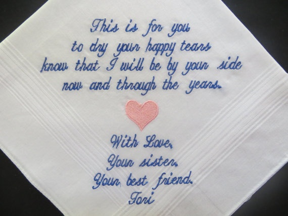 Personalized Wedding Handkerchief for the by elegantmonogramming, $24.00