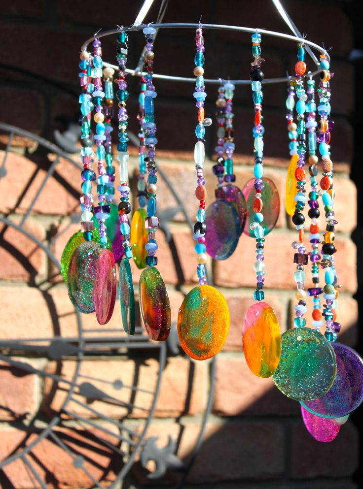 17 best images about sun catchers gazing balls on for Homemade wind chimes for kids