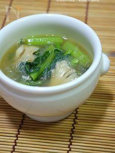 小松菜と春雨のとろみ中華スープ