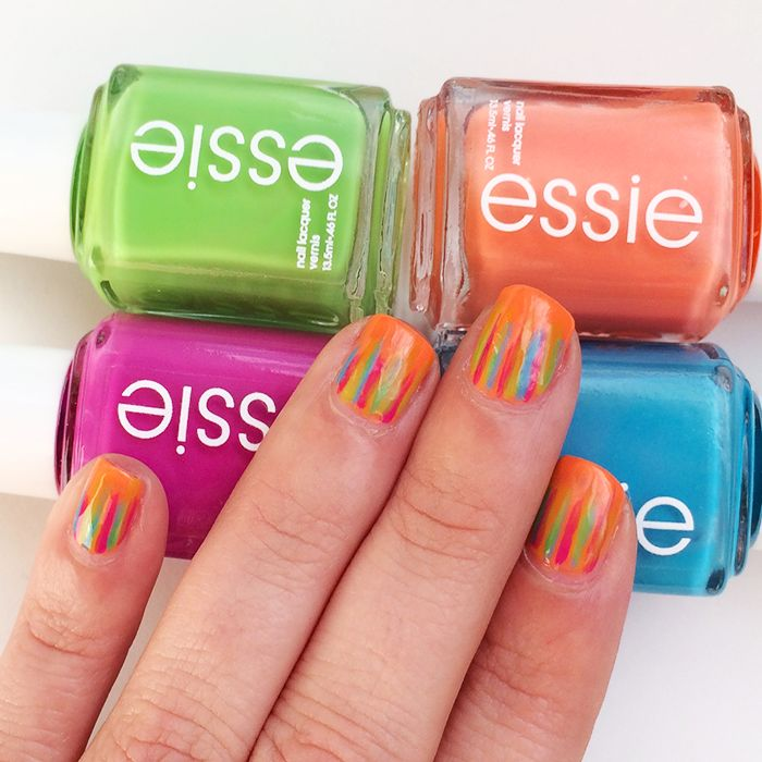 Spring Nail Trends Waterfall Nails Essie Neon #WalgreensBeauty #shop