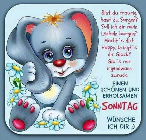 Pin von Susanne Doehmann auf days   Happy sunday, Sunday ...