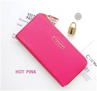 Block color wallet in pink from lovemisseve.com