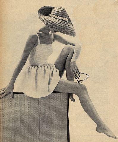 boatneck sundress, sunhat, sunglasses