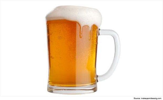 Beer home treatment for dry scalp dandruff