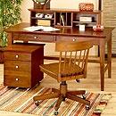 Konrad desk - large smooth writing surface with drawers