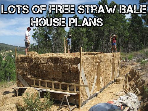 Lots Of FREE Straw Bale House Plans - SHTF, Emergency Preparedness, Survival Prepping, Homesteading