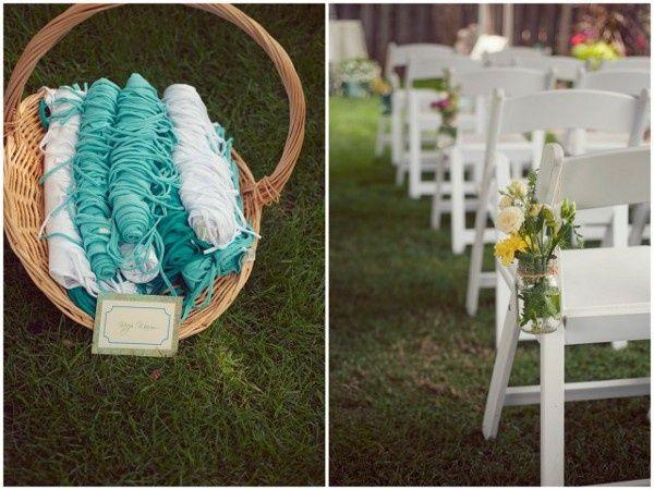 DIY Backyard Wedding Decorations