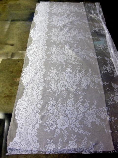 Lace Stencil Curtains - love it!