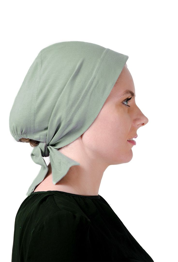 Wide Headwrap with Egyptian Cotton in olive green! #headscarves #cancerpatients #headcovers