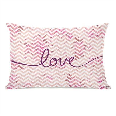 Love Mix & Match Chevron 14x20 PillowOzsale72101PL42-Pink-Multi