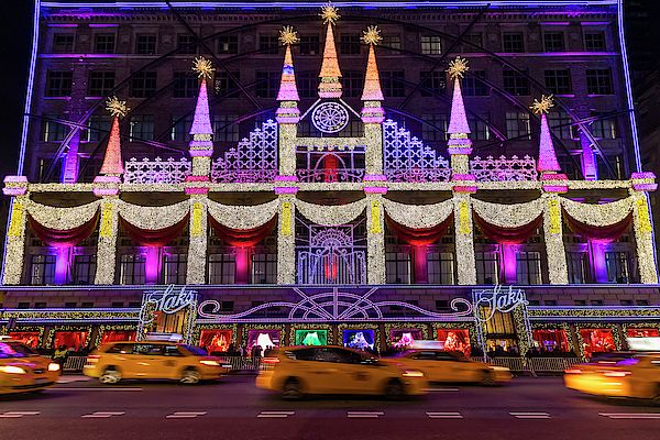 Christmas Manhattan Storefront 2020 Saks Fifth Avenue NYC Christmas Display by Susan Candelario in