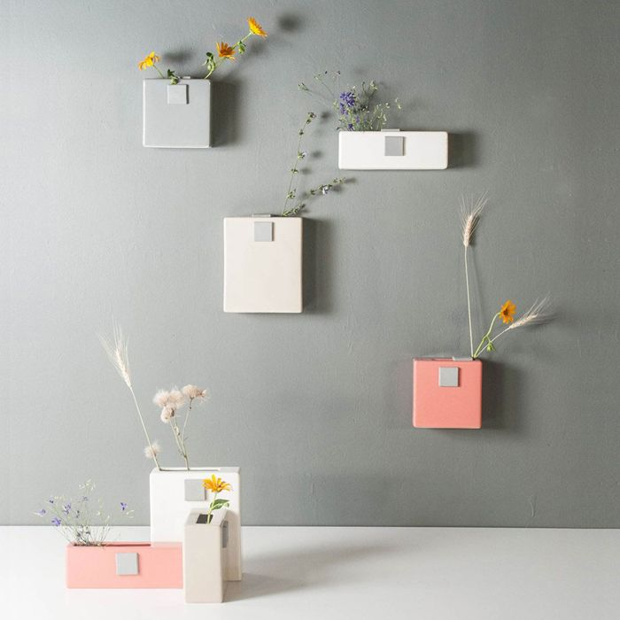 Table and wall vases by Ubikubi