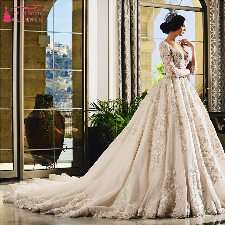 Find More Wedding Dresses Information about Gorgeous Arabic Wedding Dresses 2016…