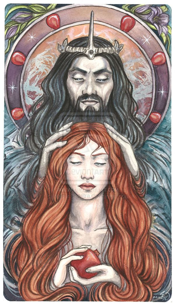 "Grim Reaper:  ""#Hades and #Persephone,"" by Arden Ellen Nixon, at deviantART."