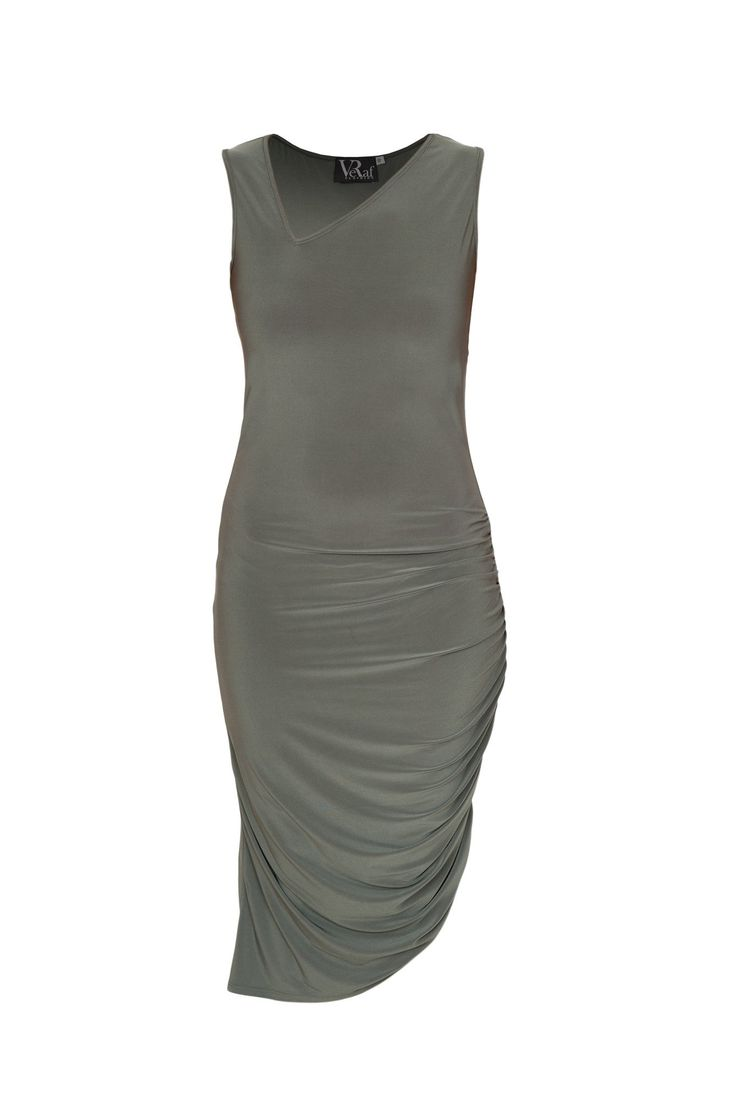 A gorgeous dress meant to highlight your figure and emphasize your height. The moss green shade is unusual and bold, which is a definite head turner when you attend the next party or gathering.