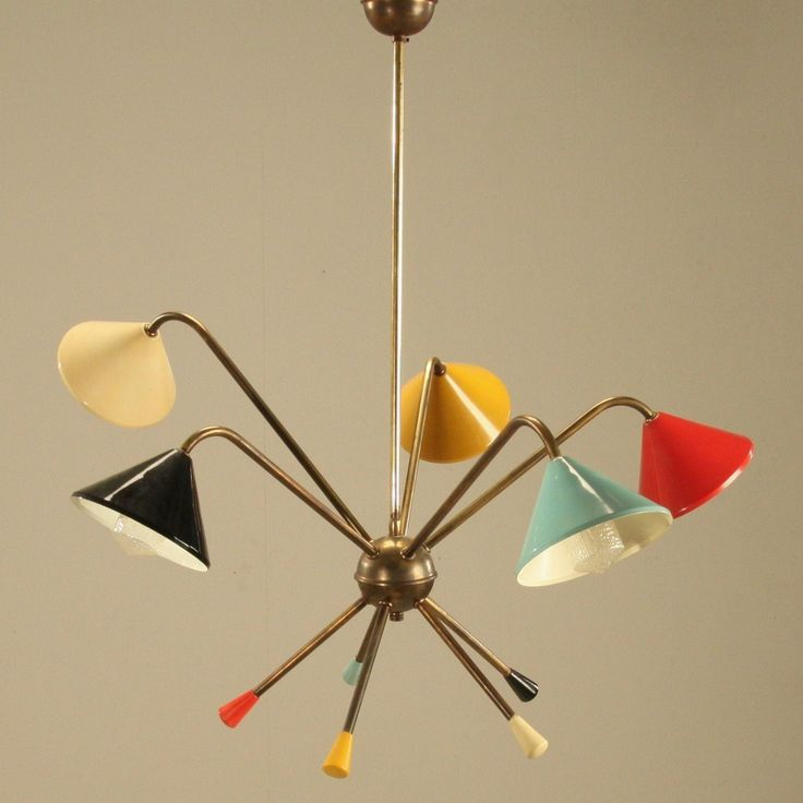 1950s Italian Atomic chandelier. Light your way to a more colorful Tomorrowland!