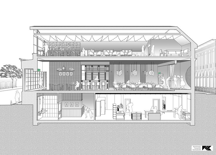 Section drawing  Archicad Photoshop