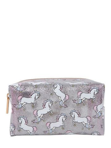Skinnydip Glitter Unicorn Make Up Bag