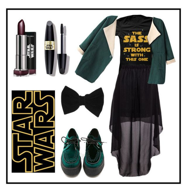 """""""Star Wars #3"""" by rositacaramel on Polyvore featuring Max Factor, Chicnova Fashion, T.U.K., claire's, black, GREEN and starwars"""