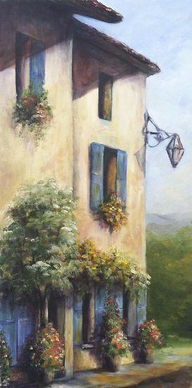 "corner cafe by Cynthia Howard Oil ~ 24"" x 12"""