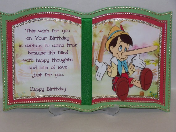 Personalised Pinocchio Bookatrix Card & Box by steffi83 on Etsy, $8.00