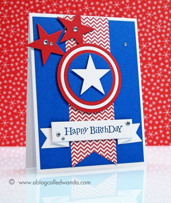Captain America card - make all the super heroes!